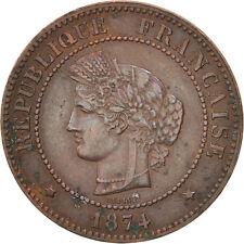 [#500833] France, Cérès, 5 Centimes, 1874, Paris, TTB, Bronze, KM:821.1