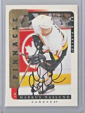 1996-97 Pinnacle Be A Player Hockey Markus Naslund Autograph Card Canucks