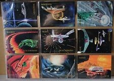 "STAR TREK THE NEXT GENERATION.SKYBOX 1993 ""ARTIST INSPIRED CARDS"" 28-36"