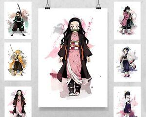 Demon Slayer Art Print - wall bedroom decor anime gift Kimetsu no Yaiba Nezuko