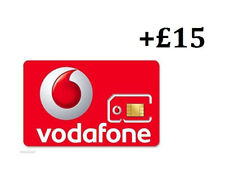 VODAPHONE SIM CARD | Pay as you go with £15 credit preloaded, all Phones