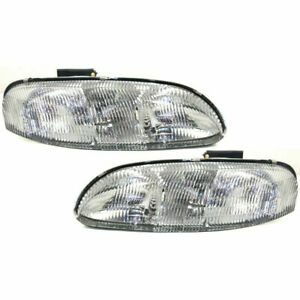 New Set of 2 LH & RH Side Headlamp Assembly Fits Chevrolet Lumina Monte Carlo