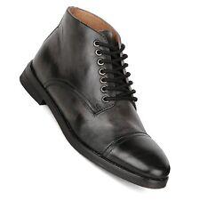 Men's Frank Wright Dawlish Sheffield Black Leather Ankle Boots New UK 9 EURO 43