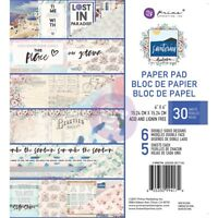 "Prima Marketing Double-sided Paper Pad 6""x6"" 30/pkg-santorini, 6 Designs/5 Each"