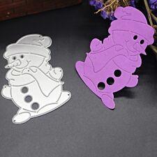Snowman Cutting Dies Stencils Scrapbooking Album Embossing Paper DIY Crafts
