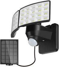 LUOWAN Solar Security Light Outdoor, 1600LM Solar LED Motion Sensor Light with 2