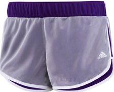 Adidas M10 Climalite Knit Mesh Purple White Women's Running Shorts Size Small