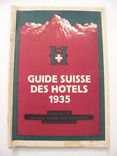Guide Suisse des Hôtels 1935