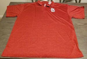 Mens Majestic St. Louis Cardinals Polo Style Shirt 3XLT BEAUTIFUL NWT SMOKEFREE