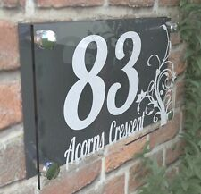 Clear Acrylic House Sign Modern Decorative Door Number Name Plaques Dec4-1WA