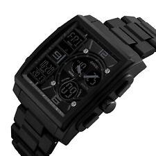 Fashion Men's Date Military Quartz Square Digital Waterproof Analog Sport Watch