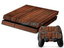 Cool Wood Grain Sticker for Playstation 4 PS4 Console Controller Protector Skins