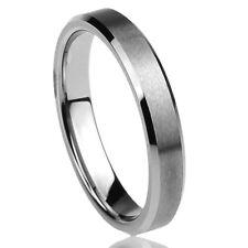 Men Women  Engraving 4MM Titanium Wedding Band Ring Brushed Engraved Ring