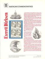 #138 15c Everett Dirkson #1873 USPS Commemorative Stamp Panel