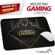 TAPPETINO MOUSE PAD Gaming 23X30 cm ANTISCIVOLO NANOGRIP League of Legends Lol