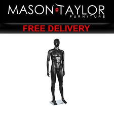 Mason Taylor 185cm Tall Full Body Male Mannequin - Black MANNE-MAL-NF-BLACK