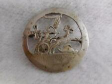 VINTAGE  EGYPTIAN REVIVAL 800 SILVER PHARAOH CHARIOT HORSE & ANKH ROUND PIN