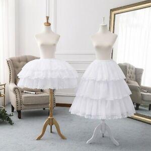 Adjustable Tea Length Lolita Petticoat Puffy Crinoline Underskirt