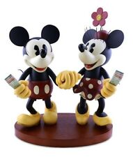 "Disney Parks 20"" Medium Big Fig Figurine Pie Eyed Minnie and Mickey Mouse NEW"
