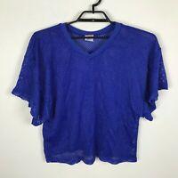 Champro Practice Football Mesh Jersey Blue Short Sleeve Size Adult M