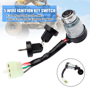 Modified 5 Wire Start Ignition Key Switch For 4 Stroke Motorcycle Dirt Bike ATV