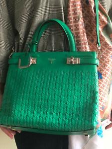 Serapian milano mosaico green handbag