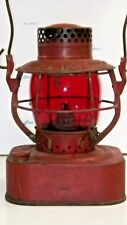 Vintage Red Globe Dietz Square Tank 8 Day Red Lantern [1427]
