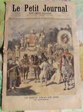 Ancienne Gravure Illustration de 1896 le Boeuf gras , le Cortège