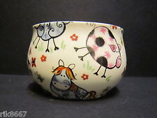 Heron Cross Pottery Crazy Farm Animals Chintz Open Sugar Hand Decorated