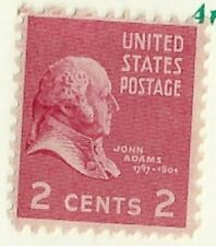 1938 John Adams 2 cents US Postage Stamp Scott #806  MINT