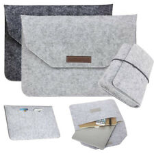 Wool Laptop Sleeve Bag Case For Macbook Air Pro Retina 11 12 13 15 w/ Cable Bag