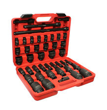 """Clearance-ABN 1/2"""" Drive SAE Impact Socket Set w/ Extensions & Swivel Joint"""