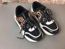 Krush, girls womens Sneakers, trainers , Size: uk 4, Black leopard print new