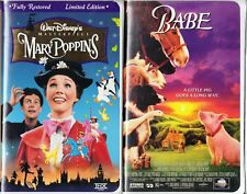 Mary Poppins (VHS, 1997, Clam Shell; S. E.)& Babe:2 VHS