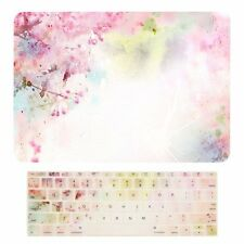 """2016 Macbook Pro 13"""" NO TOUCH BAR A1708, Cherry Blossom Case + Keyboard Cover"""