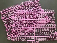 "1"" letters for felt letter boards (Pink) Letters and numbers"