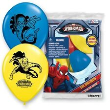 (6ct) Disney Spiderman Superhero Birthday Latex Balloons Party Supplies