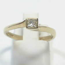 Princess 9 Carat Solitaire Yellow Gold Fine Diamond Rings