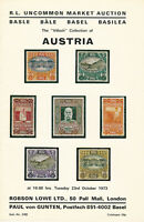The Villach Austria Collection, Uncommon Market,  Auction Catalog, Oct. 23, 1973