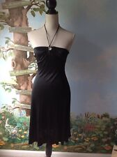 bebe Women's Black Cocktail Halter Dress Size Extra Small