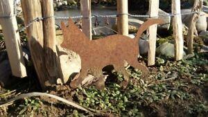 Gartendeko Rostdeko Garten Edelrost Katze mittel