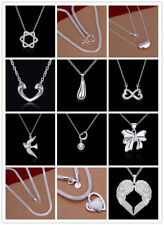 21 Style 925 Silver Solid Silver Women's Fashion Jewelry Pendant Necklace GN03