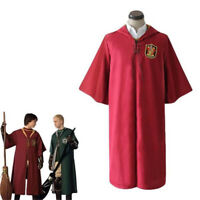 Harry Potter Gryffindor Slytherin Quidditch Cloak Cosplay Costume Magic Robe