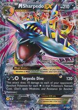 ~Pokemon Ultra Rare Holo Foil Jumbo Mega M Sharpedo EX Card 210 HP XY200 PROMO
