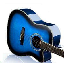 41 inch Navy Blue Basswood Musical Instruments Cutaway Acoustic Guitar #