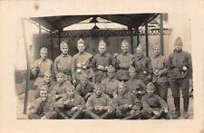 Carte militaire - Groupe de soldats