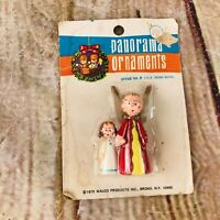 Vintage New Walco 1973 Panorama Ornaments Christmas angels