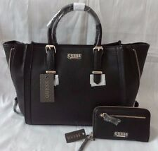 AUTHENTIC NEW NWT GUESS GENEVIA ZIPPER SATCHEL BAG PURSE WITH MATCHING WALLET