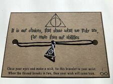 Harry Potter Wish / Friendship Bracelet  - Deathly Hallows, Gift