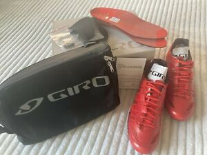 GIRO PROLIGHT Techlace Cycling Shoes Size 11 EUR 44.5 bright red NEW IN BOX